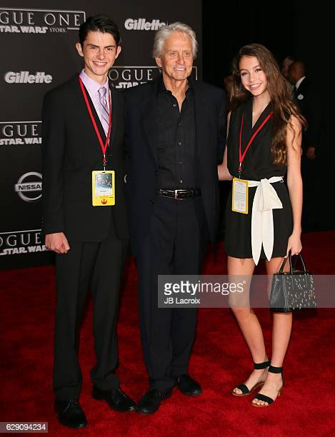 Dylan Michael Douglas Michael Douglas and Carys Zeta Douglas attends the Premiere of Walt Disney Pictures and Lucasfilm's 'Rogue One A Star Wars...