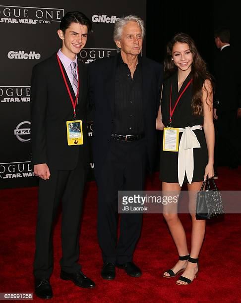 Dylan Michael Douglas Michael Douglas and Carys ZetaDouglas attend the Premiere of Walt Disney Pictures and Lucasfilm's 'Rogue One A Star Wars Story'...
