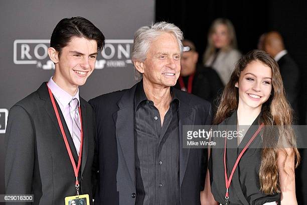 Dylan Michael Douglas Michael Douglas and Carys ZetaDouglas attend the premiere of Walt Disney Pictures and Lucasfilm's Rogue One A Star Wars Story...