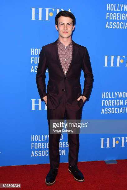 Dylan Minnette attends the Hollywood Foreign Press Association's Grants Banquet at the Beverly Wilshire Four Seasons Hotel on August 2 2017 in...