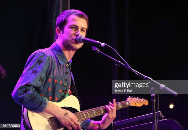 Dylan Minnette of Wallows performs onstage at Pandora during SXSW at Stubb's BarBQ on March 15 2018 in Austin Texas