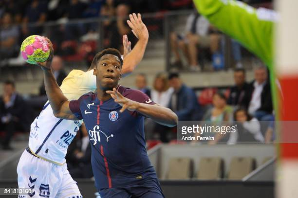 Dylan Nahi of PSG during the semi final match of the Handball Champions Trophy between Paris Saint Germain and Saint Raphael on September 1 2017 in...