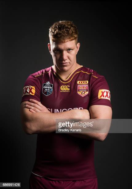 Dylan Napa poses for a portrait during a Queensland Maroons State of Origin media opportunity at Rydges South Bank on May 23 2017 in Brisbane...