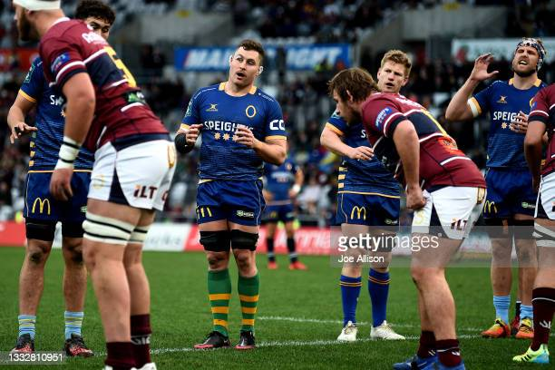 Dylan Nel of Otago prepares for a lineout during the round one Bunnings NPC match between Otago and Southland at Forsyth Barr Stadium, on August 07...