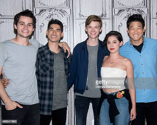 Dylan O'Brien Alex Flores Thomas BrodieSangster Ki Hong Lee and Rosa Salazar attend AOL BUILD Speaker Series Maze Runner Scorch Trials at AOL Studios...