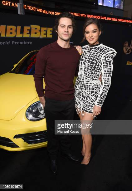 Dylan O'Brien and Hailee Steinfeld attend the global premiere of Paramount Pictures' film 'Bumblebee' on December 09 2018 in Hollywood California