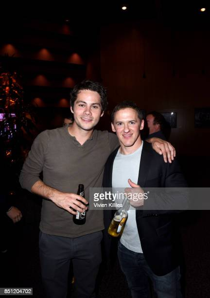 Dylan O'Brien and Jeff Davis at the MTV Teen Wolf 100th episode screening and series wrap party at DGA Theater on September 21 2017 in Los Angeles...