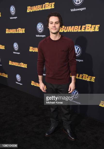 Dylan O'Brien attends the global premiere of Paramount Pictures' film 'Bumblebee' on December 09 2018 in Hollywood California