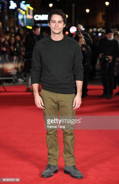 Dylan O'Brien attends the UK fan screening of 'Maze Runner The Death Cure' at Vue West End on January 22 2018 in London England