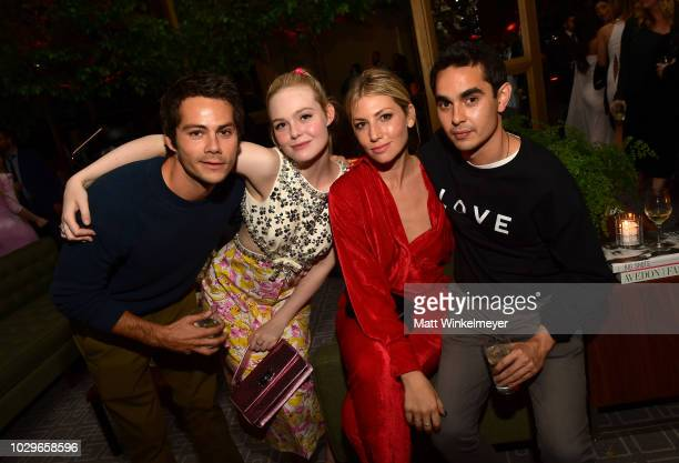 Dylan O'Brien Elle Fanning Ari Graynor and Max Minghella attend 2018 HFPA and InStyle's TIFF Celebration at the Four Seasons Hotel on September 8...