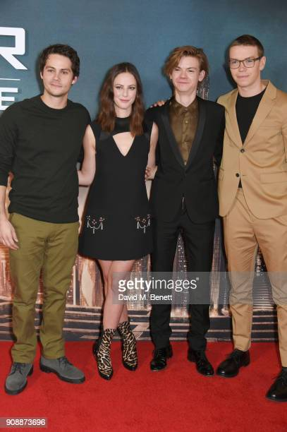 Dylan O'Brien Kaya Scodelario Thomas BrodieSangster and Will Poulter attend the UK fan screening of 'Maze Runner The Death Cure' at Vue West End on...