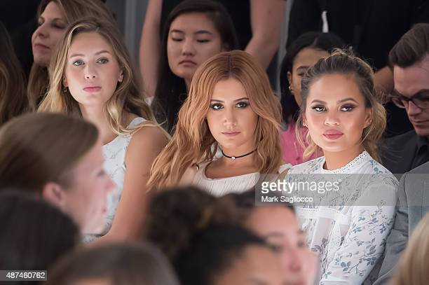 Dylan Penn Actress Ashley Tisdale and Model Chrissy Tiegen attend the Lauren Conrad Spring 2016 New York Fashion Week at Skylight Modern on September...