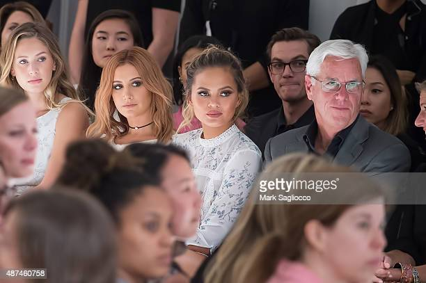 Dylan Penn Actress Ashley Tisdale Model Chrissy Tiegen and Kohl's CEO Kevin Mansell attend the Lauren Conrad Spring 2016 New York Fashion Week at...