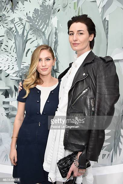 Dylan Penn and Erin O'Connor attend the Chanel show as part of Paris Fashion Week Haute Couture Spring/Summer 2015 on January 27 2015 in Paris France