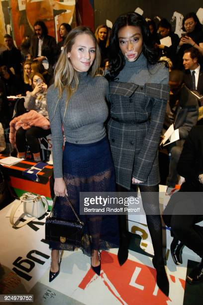 Dylan Penn and Winnie Harlow attend the Christian Dior show as part of the Paris Fashion Week Womenswear Fall/Winter 2018/2019 on February 27 2018 in...