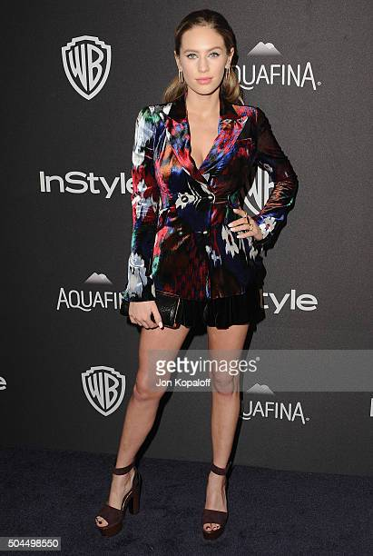 Dylan Penn arrives at the 2016 InStyle And Warner Bros 73rd Annual Golden Globe Awards PostParty at The Beverly Hilton Hotel on January 10 2016 in...