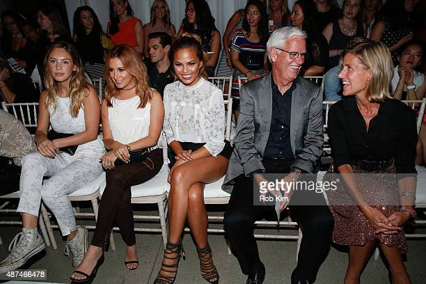 Dylan Penn Ashley Tisdale Chrissy Tiegen Kevin Mansell and Michelle Gass attend the LC Lauren Conrad fashion show during Spring 2016 New York Fashion...