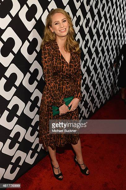 Dylan Penn attends Diane Von Furstenberg's Journey of A Dress Exhibition Opening Celebration at May Company Building at LACMA West on January 10 2014...