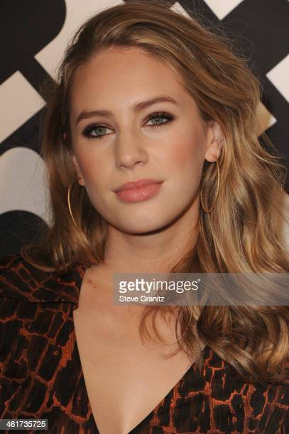 Dylan Penn attends Diane Von Furstenberg's Journey Of A Dress Premiere Opening Party at Wilshire May Company Building on January 10 2014 in Los...