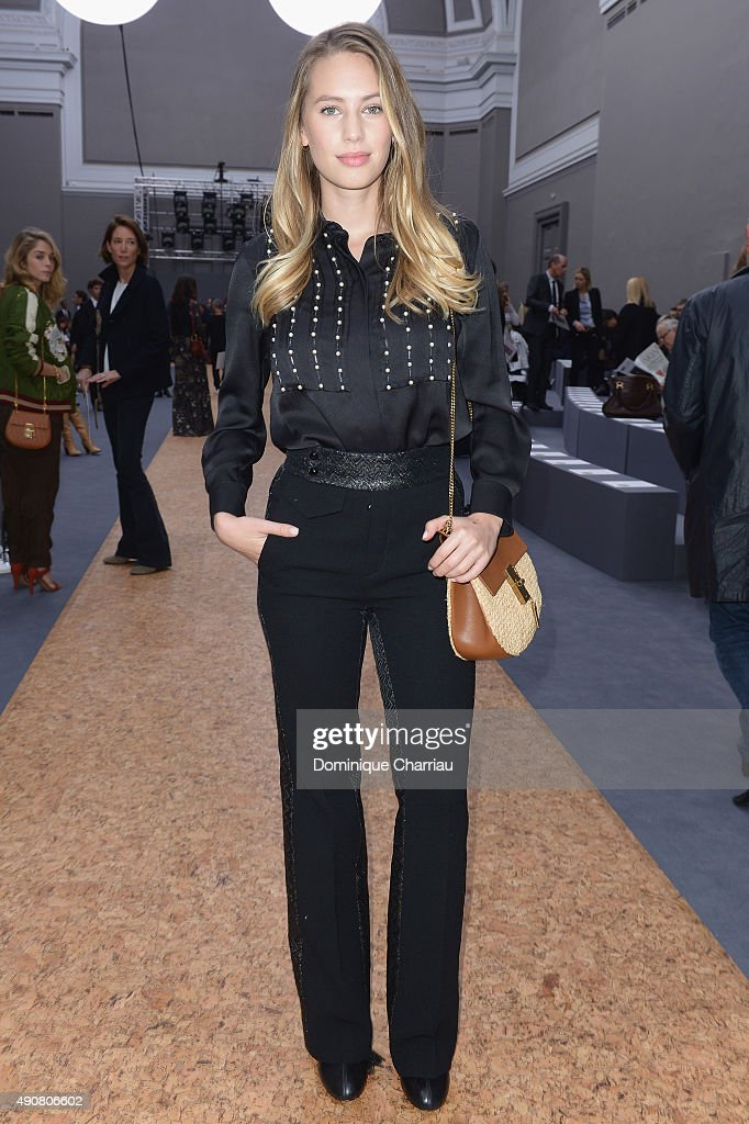 Dylan Penn attends the Chloe show as part of the Paris Fashion Week Womenswear Spring/Summer 2016 on October 1, 2015 in Paris, France.