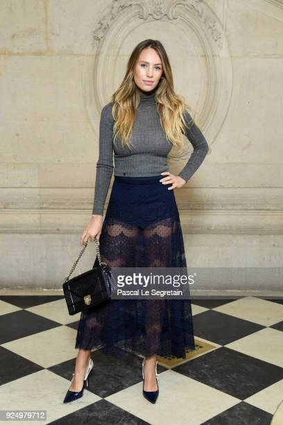 Dylan Penn attends the Christian Dior show as part of the Paris Fashion Week Womenswear Fall/Winter 2018/2019 on February 27 2018 in Paris France
