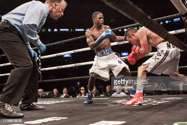 Dylan Price defeats Edson Eduardo Neri by Unanimous Decision in their Super Flyweight fight at Barclays Center on April 21 2018 in Brooklyn