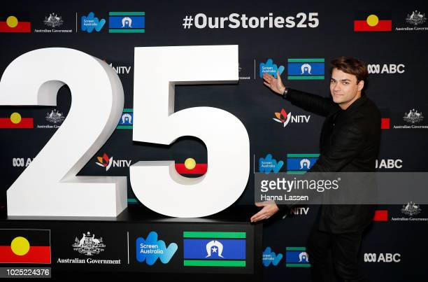 Dylan River attends the 25th Anniversary of Screen Australia's Indigenous Department at Carriageworks on August 30 2018 in Sydney Australia