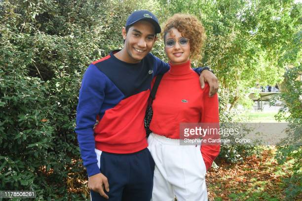 Dylan Robert and Oulaya Amamra attend the Lacoste Womenswear Spring/Summer 2020 show as part of Paris Fashion Week on October 01 2019 in Paris France