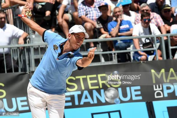 Dylan Rocher competes during the Masters of Petanque 2017 on July 13 2017 in RomanssurIsere France