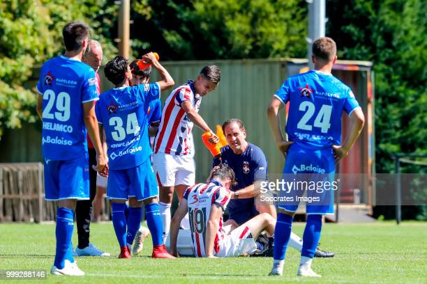 Dylan Ryan of Willem II Atakan Akkaynak of Willem II Henry van Amelsfort of Willem II during the match between Willlem II v KAA Gent on July 14 2018...