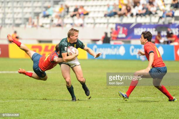 Dylan Sage of South Africa during the match between South Africa and Spain at the HSBC Paris Sevens stage of the Rugby Sevens World Series at Stade...