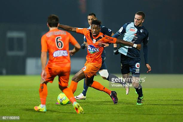 Dylan Saint Louis of Laval during the Ligue 2 match between Stade Lavallois and Le Havre AC on November 4 2016 in Laval France