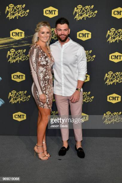Dylan Scott arrives at the 2018 CMT Music Awards at Bridgestone Arena on June 6 2018 in Nashville Tennessee