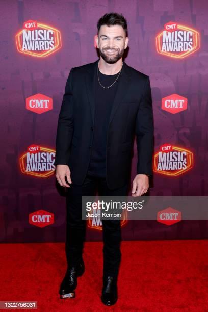Dylan Scott attends the 2021 CMT Music Awards at Bridgestone Arena on June 09, 2021 in Nashville, Tennessee.