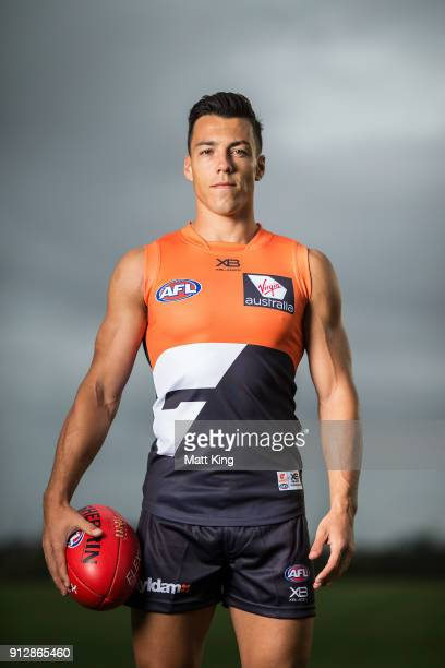 Dylan Shiel poses during the Greater Western Sydney Giants AFL media day on February 1 2018 in Sydney Australia