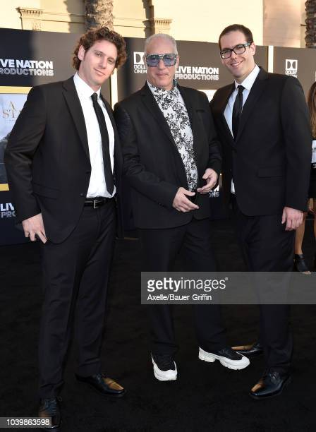 Dylan Silverstein Andrew Dice Clay and Max Silverstein attend the premiere of Warner Bros Pictures' 'A Star Is Born' at The Shrine Auditorium on...