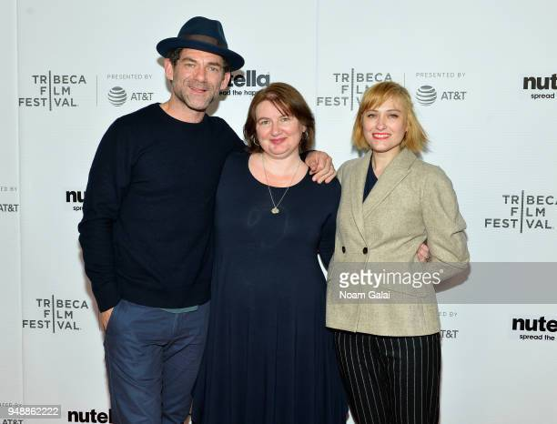 Dylan Smith Ioana Uricaru and Malina Manovici attend the premiere of 'Lemonade'during 2018 Tribeca Film Festival at Regal Battery Park 11 on April 19...