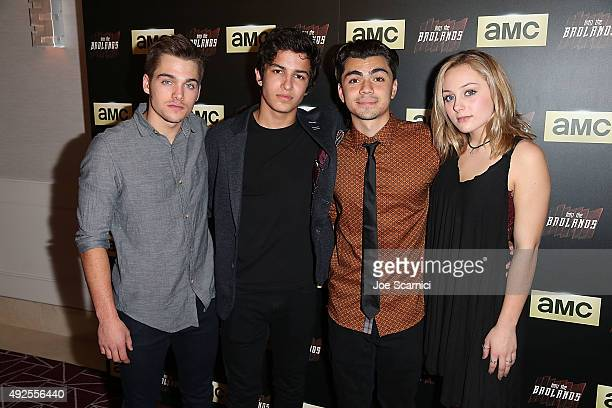 Dylan Sprayberry Aramis Knight Adam Irigoyen and Ellery Sprayberry arrives at the screening of AMC's Into The Badlands at The London West Hollywood...