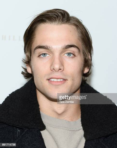 Dylan Sprayberry attends Bello Magazine's December Issue Launch Party with 'Modern Family' star Nolan Gould at Hills Penthouse on December 12 2017 in...