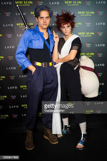Dylan Sprouse and Barbara Palvin attend Heidi Klum's 19th Annual Halloween pParty at Lavo on October 31 2018 in New York City