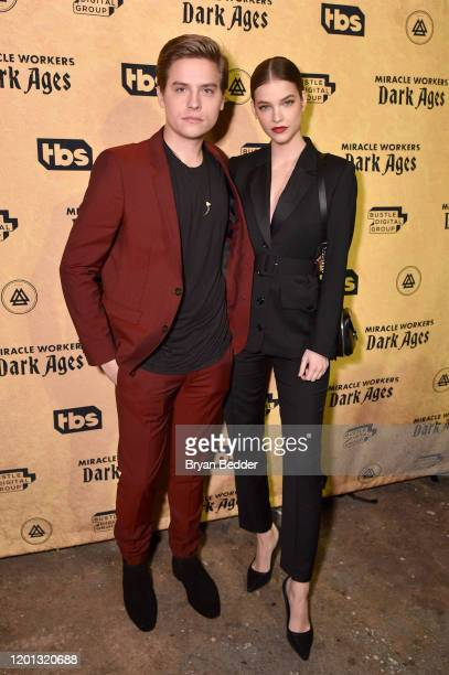 Dylan Sprouse and Barbara Palvin attend Miracle Workers Dark Ages premiere And MEADia event at Houston Hall on January 22 2020 in New York City