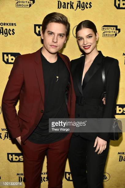 Dylan Sprouse and Barbara Palvin attend TBS's Miracle Workers Dark Ages Premiere Celebration on January 22 2020 in New York City