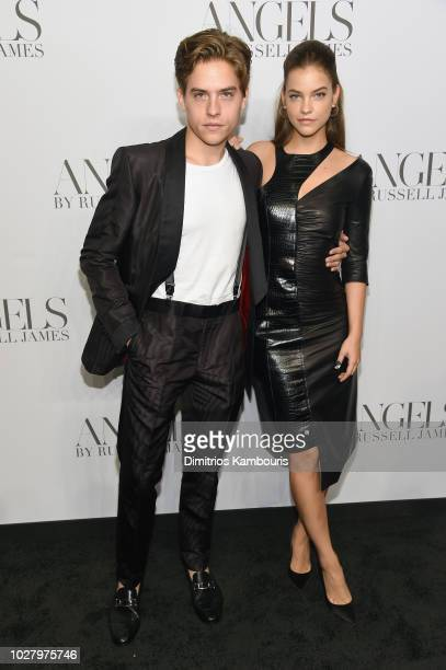 Dylan Sprouse and Barbara Palvin attend the ANGELS by Russell James book launch and exhibit hosted by Cindy Crawford and Candice Swanepoel at Stephan...