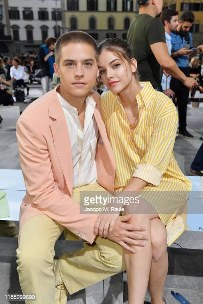 Dylan Sprouse and Barbara Palvin attend the Salvatore Ferragamo show during Pitti Immagine Uomo 96 on June 11 2019 in Florence Italy