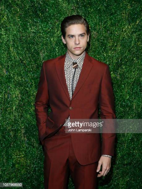Dylan Sprouse attends CFDA / Vogue Fashion Fund 15th Anniversary Event at Brooklyn Navy Yard on November 5 2018 in Brooklyn New York