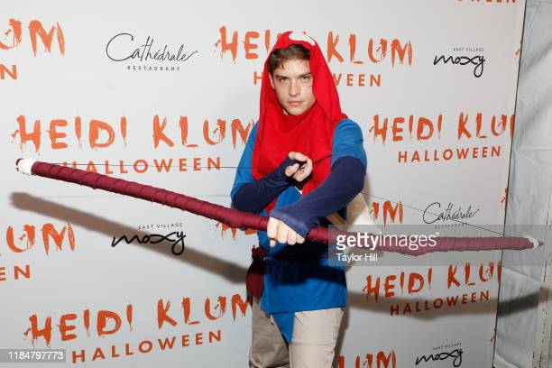 Dylan Sprouse attends Heidi Klum's Annual Hallowe'en Party at Cathedrale on October 31 2019 in New York City