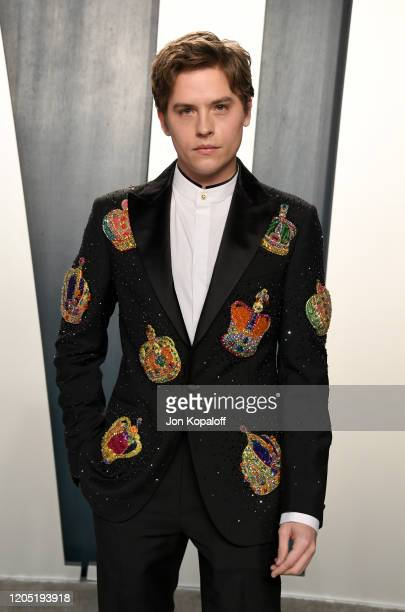 Dylan Sprouse attends the 2020 Vanity Fair Oscar Party hosted by Radhika Jones at Wallis Annenberg Center for the Performing Arts on February 09 2020...