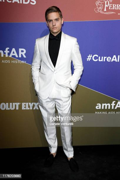 Dylan Sprouse attends the amfAR Gala Milano 2019 at Palazzo Mezzanotte on September 21 2019 in Milan Italy