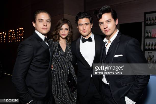 Dylan Sprouse Barbara Palvin Charles Melton and Cole Sprouse attend the 2019 Vanity Fair Oscar Party hosted by Radhika Jones at Wallis Annenberg...