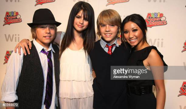Dylan Sprouse Selena Gomez Cole Sprouse and Brenda Song at Cole and Dylan Sprouse's 16th Birthday Party Hosted By Nintendo on August 9 2008 in Los...